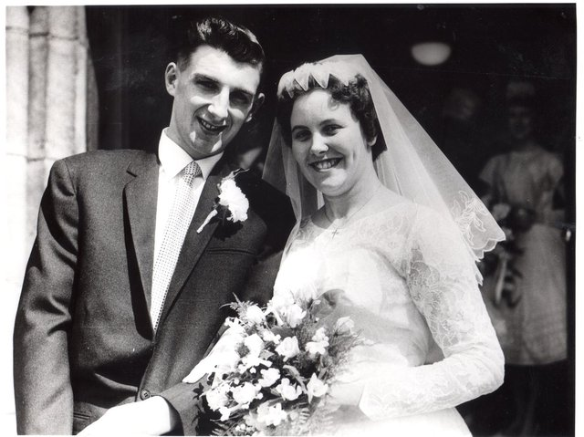 Gordon and Cath on their wedding day