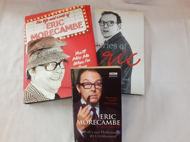 These books are among a collection of Eric Morecambe memorabilia which arrived in the centre since reopening