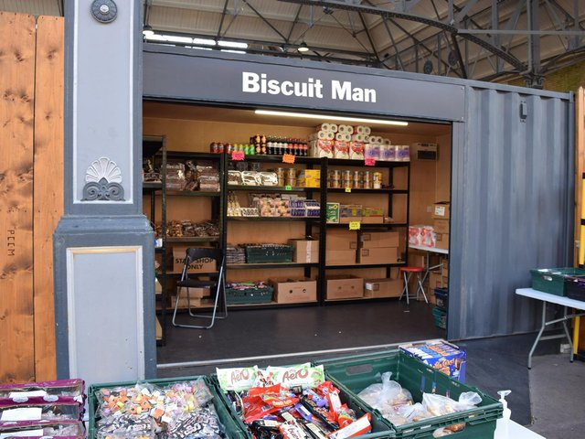 The Biscuit Man stall is to leave the market