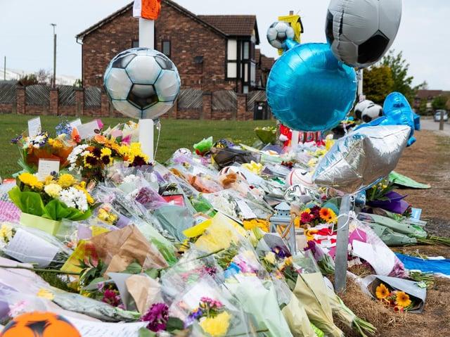 Tributes left to Jordan Banks