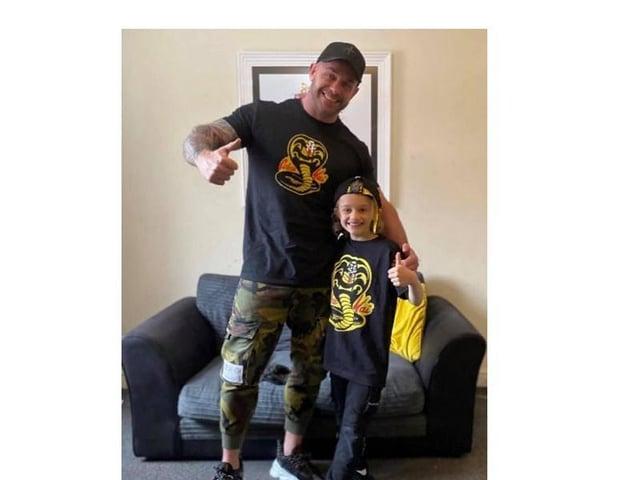 Matt Banks with his son Jordan