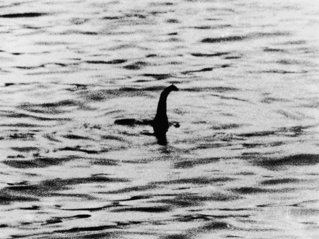 A view of the Loch Ness Monster, near Inverness, Scotland, April 19, 1934