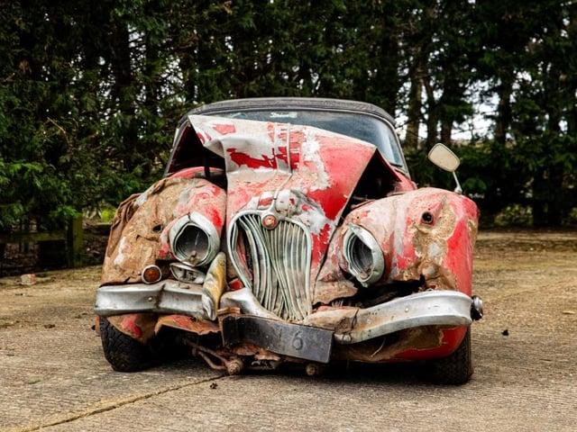 Classic car for sale - needs some attention. (Image: Bonhams Auction House)