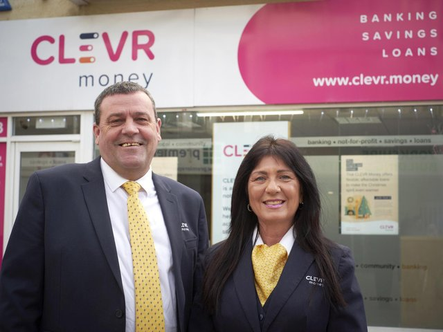 Anthony Brookes and Jackie Colebourne of Clevr Money, the Lancashire Credit Union
