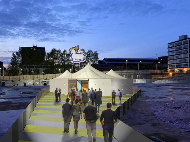 Mobile Event Tent - aka The MET - Preston's new pop-up city centre event space