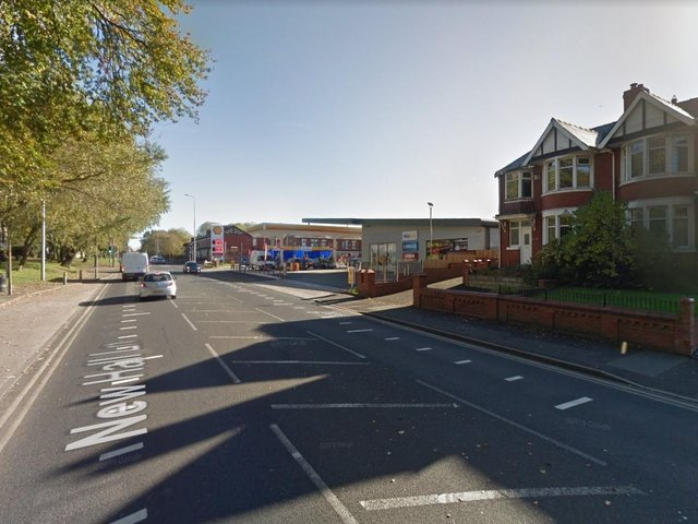 A road closure was put in place in place at New Hall Lane and Brockhole Brow. (Credit: Google)