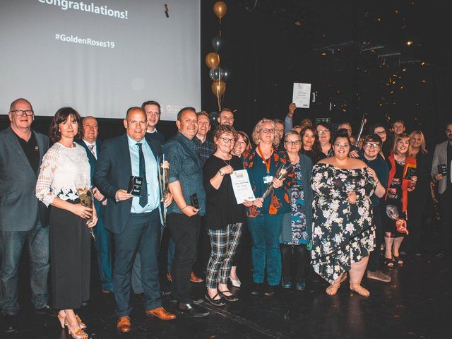 The 2019 winners of UCLan's 'Golden Roses' awards for outstanding lecturers and support staff.
