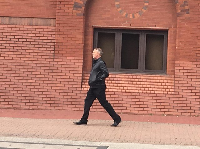 Trevor Smith leaving Wigan Magistrates' Court in 2019