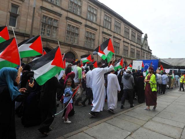 Pro-Palestine rally in Preston in 2014