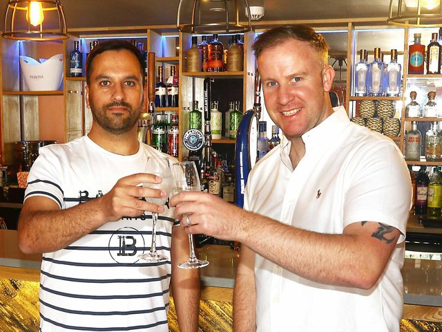 Marcus Harrington and Chris Donaldson have opened Fusion in Pedder Street. Photo: Tony North.