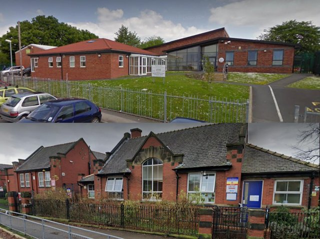 Two of Lancashire's 24 nursery schools are in Chorley - Highfield on Wright Street (top) and Duke Street (below). A consultation into the future of the county's maintained nursery school provision has begun (images:  Google)