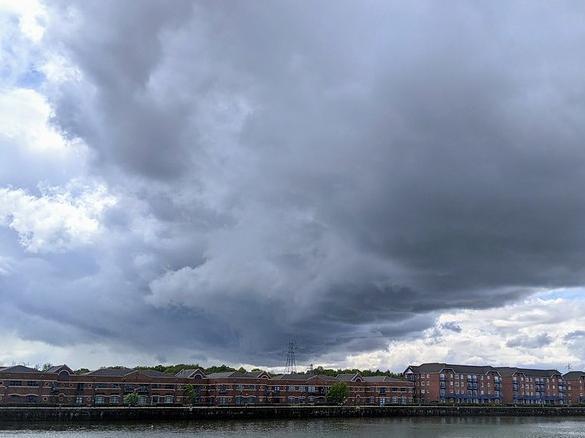Dark clouds over Preston Docks. Photo: Tony Worral Photography