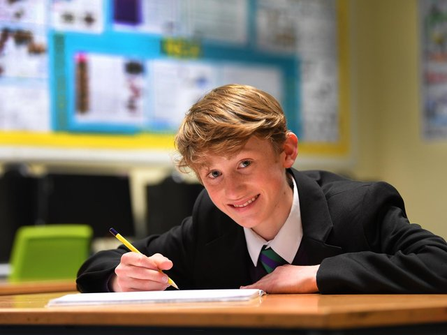 Year 9 pupil Will has a talent for tech according to his teacher Mr Jousiffe, and he has now been recognised as a finalist in a national design competition, photo: Neil Cross.