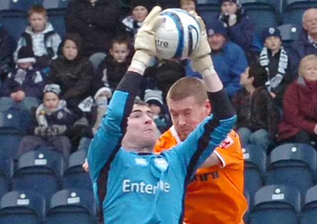 Andrew Lonergan in action during his PNE days