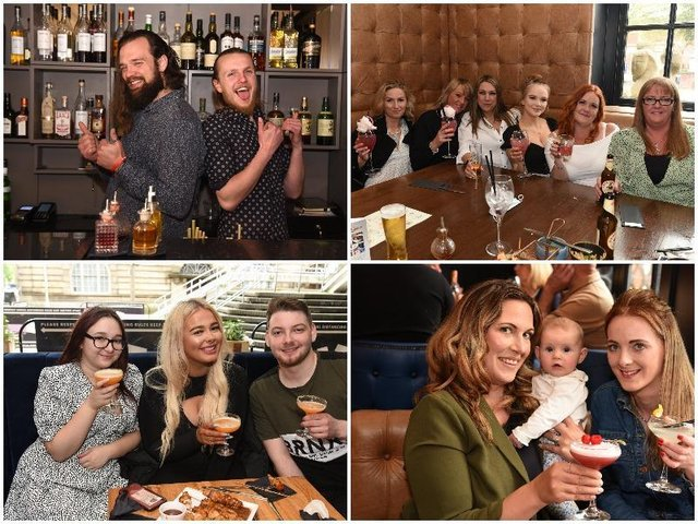 10 pictures as Preston customers raise a glass indoors