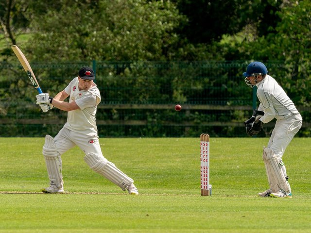 Garstang's Michael Walling hits a boundary against Chorley Picture: Tim Gilbert/Preston Photographic Society