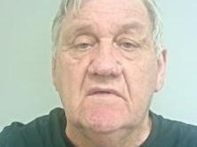 John Hartless (pictured) is described as white, 6ft tall, of heavy build with grey hair. (Credit: Lancashire Police)