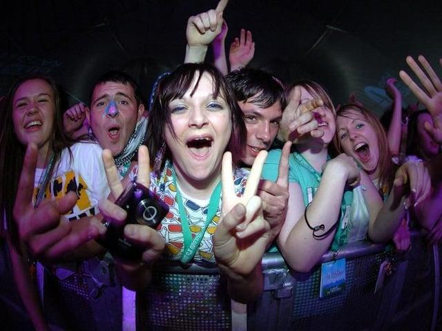 Crowds enjoying Radio 1's Big Weekend in Moor Park, Preston, in 2007
