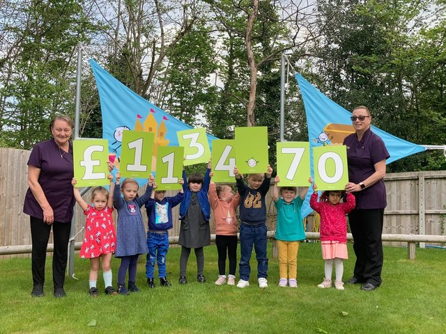 Busy Bears Day Nursery raised more than £1000 for Derian House Children's Hospice.