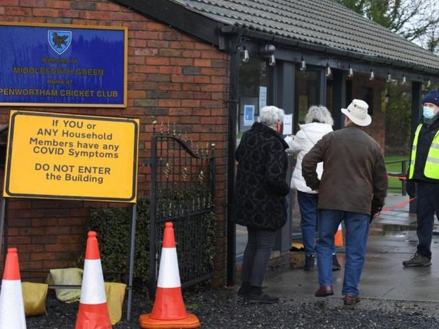 The cricket club first opened as a vaccination centre in December