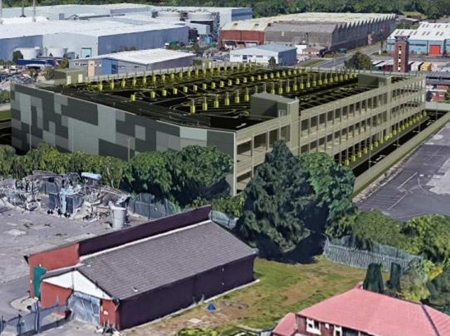 An image of how the multi-storey van park could look (Image: SMR Architects).