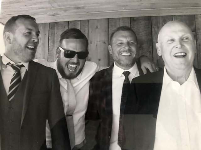 From left, brothers Paul, John Lloyd and Wayne with their dad John Fletcher