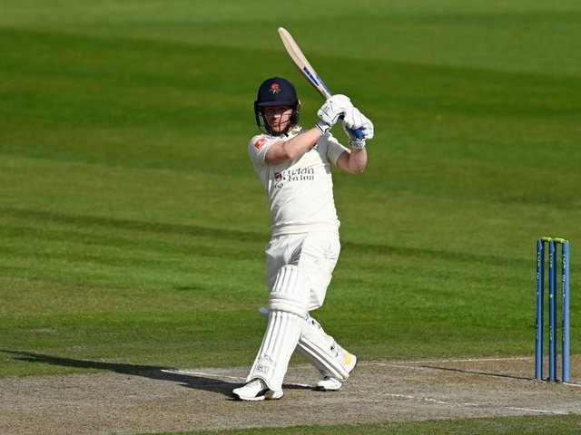 Alex Davies scored his fifth half-century of the season on day one of the Roses match