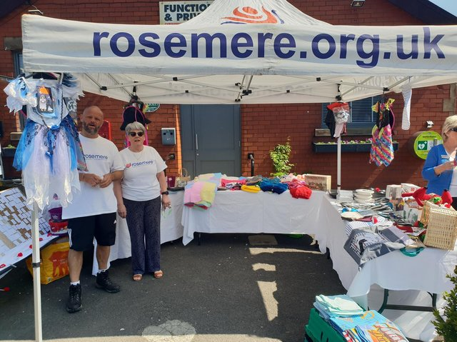 The Rosemere Cancer Foundation fundraising stall  Photo: Andrew Wallin