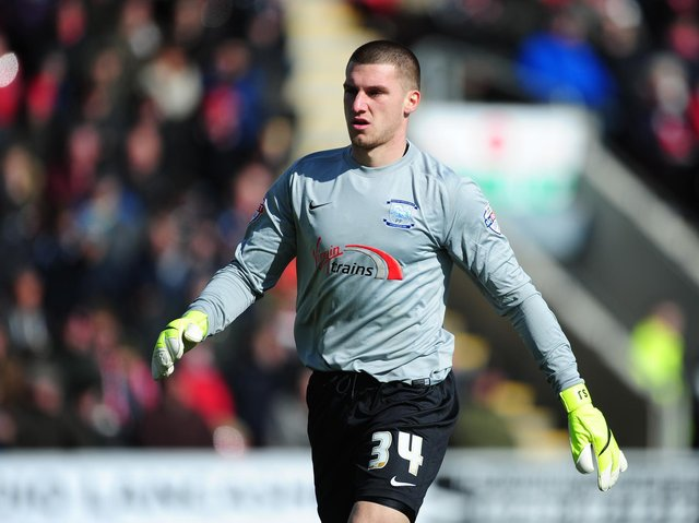 Sam Johnstone during his first loan with Preston North End loan in 2015