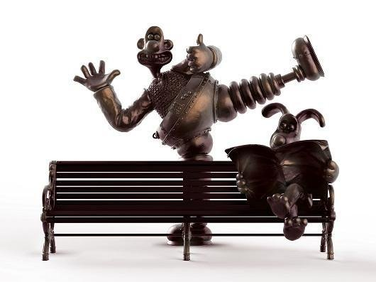 The Wallace and Gromit bench would be sited outside Preston Markets will be installed outside Preston Markets later this year. (Credit: Marketing Lancashire)