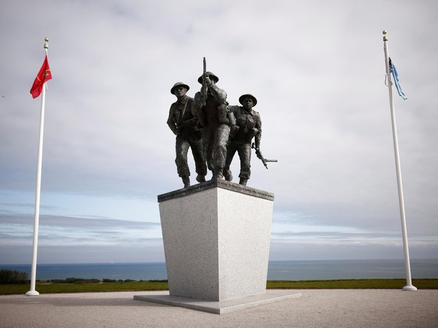A view of the new British Normandy Memorial at Ver-sur-Mer in France. (Photo by PA/ Stephane Mahe)