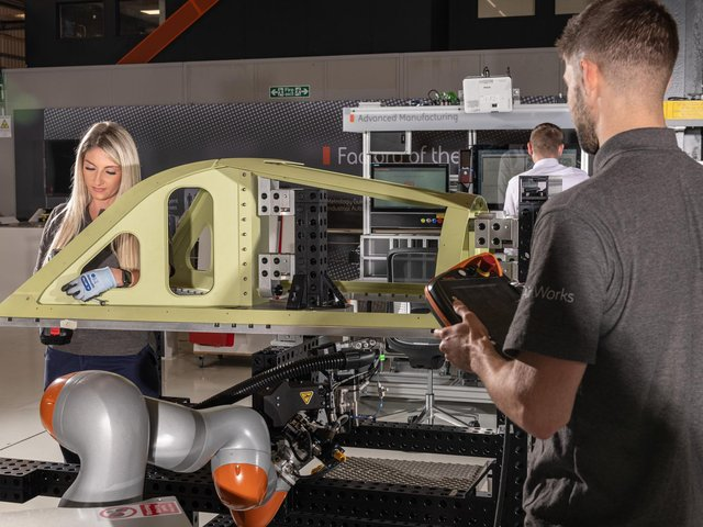 BAE Systems is working on its Factory of the Future project, which aims to use cutting edge technology to provide the workplaces fit for the next generation of young aerospace workers