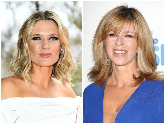 Pictured left, Charlotte Hawkins, on the right, Kate Garraway.
