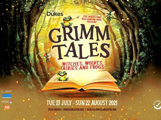 The Dukes production of Grimm Tales runs from July 27-August 22 in Williamson Park, Lancaster.