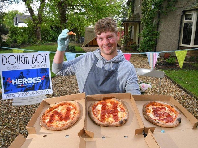 A year ago, Joe launched his business by donating free pizza to NHS and care workers.