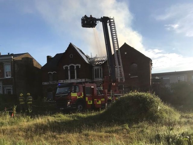 The fire broke out inside the derelict Victorian building in Avenham Place at around 4.30am this morning (Tuesday, June 8)