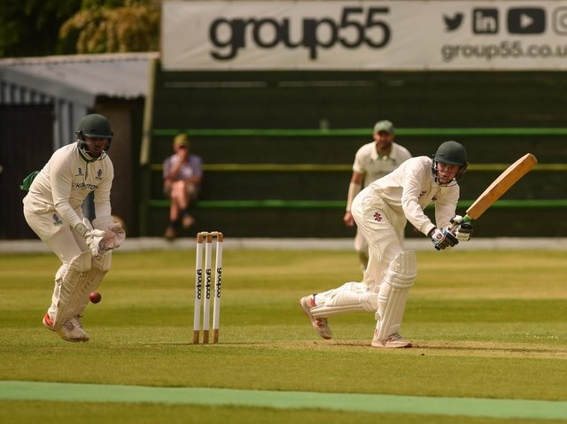 Action from Fulwood and Broughton's clash with Leyland at Highfield