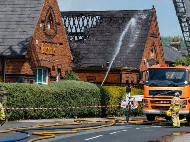 Fire damage at Busy Bees in School Lane, Bamber Bridge