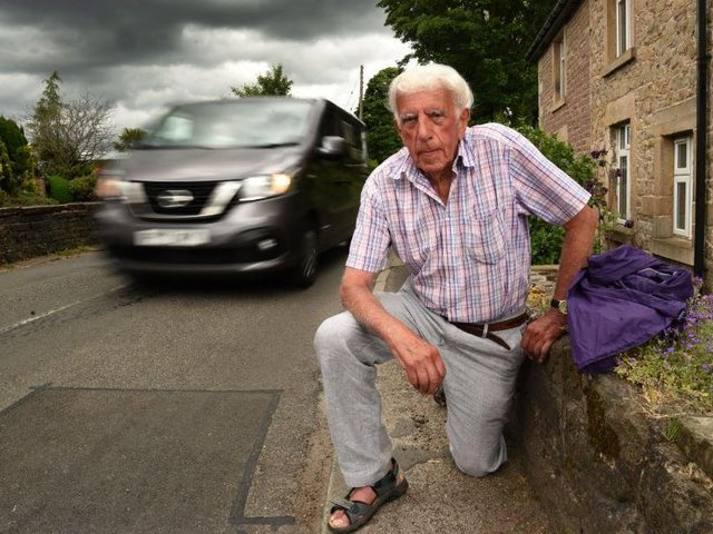 Ron Brimelow said his wife Jean was nearly killed by a car along Town Lane