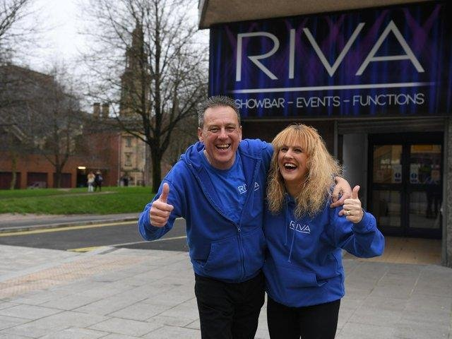 Rive Showbar owners David and Tracey Billington outside the venue in Tithebarn Street, Preston