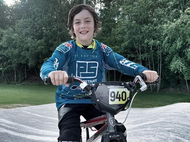 Freddie, 9, is the regional and national BMX champion