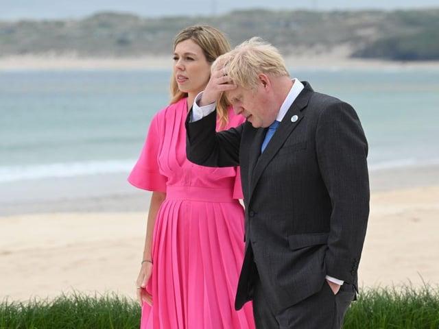 Boris Johnson, and wife Carrie Johnson