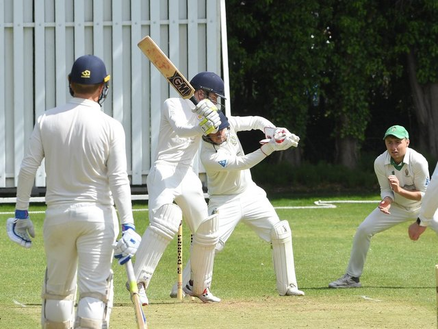 Action from Penwortham's clash with Penrith at Middleforth Green