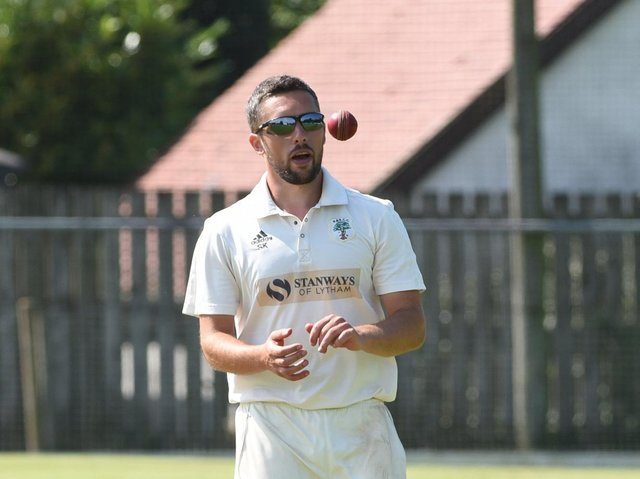 Simon Kerrigan scored 82 and took three wickets in Fulwood and Broughton's draw at Morecambe