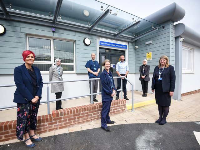 The team take a look at the new mental health assessment unit at Blackpool Victoria Hospital
