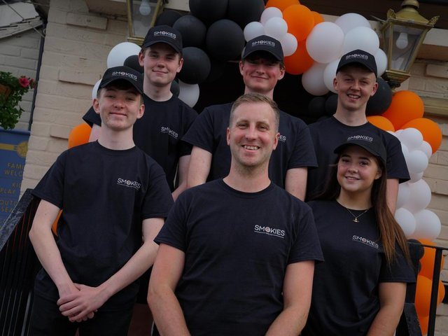 Chris and the Smokies team at the Talbot launch. H. Ashton Photography