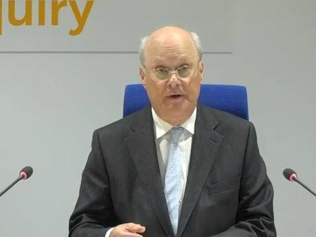 Inquiry chairman Sir John Saunders
