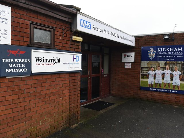 The rugby club has been used as a vaccination centre since the start of the pandemic