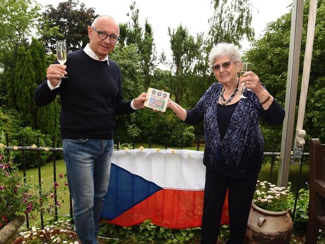 Lady Milena Grenfell-Baines with Czech Ambassador H.E. Libor Secka in Preston