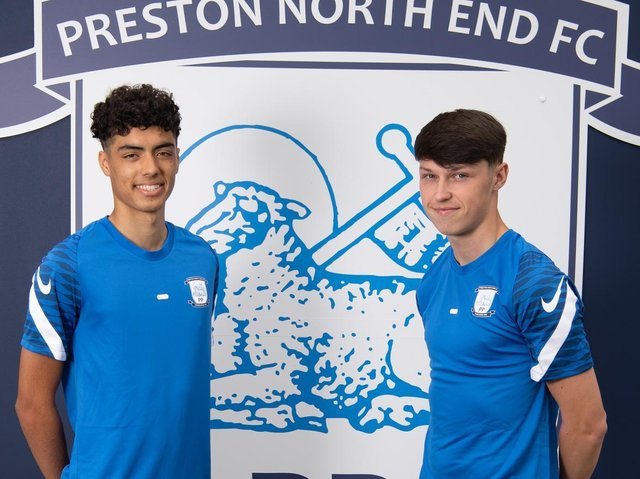 Noah Mawene and Josh Seary have agreed professional deals with Preston      (photo: PNE)